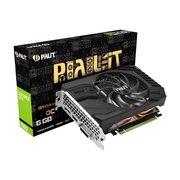 Видеокарта Palit PA-GTX1660 StormX OC 6G GeForce GTX 1660 (NE51660S18J9-165F) 6144Mb 192bit GDDR5 1530/8000 DVIx1/HDMIx1/DPx1/HDCP Ret