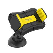 Автомобильный держатель HOCO CA43 Travel spirit push-type dashboard in-car holder black&yellow