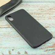 Накладка силиконовая матовая для iPhone XS Max, чёрный