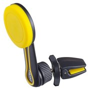 """Автомобильный держатель Perfeo 532 для смартфона до 6,5""""/ на воздуховод/ магнитный/ поворотный/ черный+желтый"""