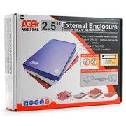 "Корпус для HDD/SSD 2.5"" Sata3 USB2.0 AgeStar SUB2O1 Blue, алюминиевый"