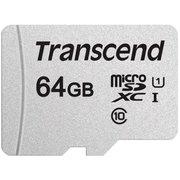 Карта памяти Transcend microSDXC 300S 64GB Class10 UHS-I U1 (TS64GUSD300S)