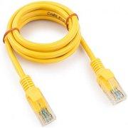 Патч-корд Cablexpert PP12-1M/Y UTP5e, 1 м, литой, многожильный, биметалл CCA, 26AWG, PVC, жёлтый