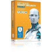 ПО ESET NOD32 Smart Security Family, 5 ПК/1 год. Лицензия, коробка (NOD32-ESM-NS(BOX)-1-5)