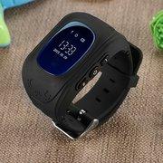 Детские часы телефон с gps трекером Smart baby watch Q50 чёрный