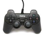 Геймпад Dialog GP-A11 Action - вибрация, 12 кнопок, USB, черный