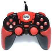 Геймпад Dialog GP-A15 Action - вибрация, 12 кнопок, USB, черно-красный