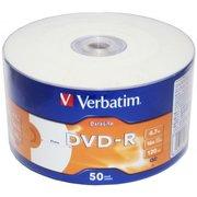 Диск DVD-R Verbatim 4.7Gb 16x bulk (50шт) Printable (43793)