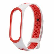 Силиконовый ремешок Nike Xiaomi для Mi Band 4/3 белый/красный