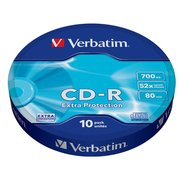 Диск CD-R Verbatim 700Mb 52x extra protect (10шт) 43725
