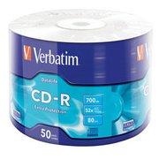 Диск CD-R Verbatim 700Mb 52x bulk (50шт) (43787)