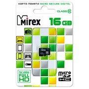Карта памяти Mirex microSD 16GB Class10 (13612-MC10SD16)