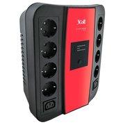 ИБП 3Cott 3C-650-SPB, интерактивный, 650 ВА / 360 Вт, количество выходных разъемов: 10 (5 с питанием от батареи), USB, защита локальной сети