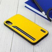 Чехол Shengo для iPhone X/XS жёлтый