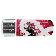 USB-флешка 16G USB 2.0 Verbatim Mini Graffiti Edition красный/рисунок (49414)