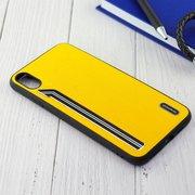 Чехол Shengo для iPhone XS Max жёлтый