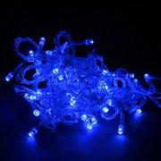 Гирлянда новогодняя прозрачный шнур 500 LED, синяя
