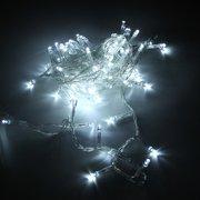 Гирлянда новогодняя прозрачный шнур 500 LED, белая