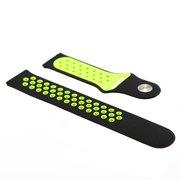 Силиконовый ремешок Nike для Amazfit GTR47mm чёрный/салатовый