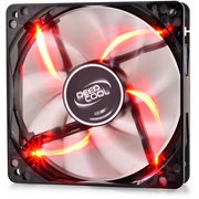 Вентилятор 120 мм Deepcool Wind Blade 120 LED Red, 3-pin+molex, Ф120х25mm, 1300rpm, 26dBA, 65.16 CFM, HDB (hydro dynamic bearing), 118 гр.