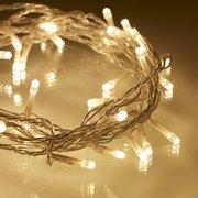 Гирлянда новогодняя прозрачный шнур 200 LED, теплобелая