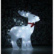 Фигура новогодняя LED, олень, белый, 75 см