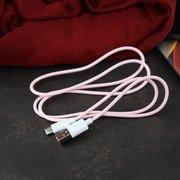 Дата-кабель USAMS U-Turn Type-C 1.2м (розовый)