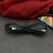 Дата-кабель USAMS US-SJ400  U31 Type-C To Type-C 100W PD Fast 1.2м (чёрный)