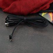 Дата-кабель USAMS US-SJ254 U13  90°Bending Intelligent lightning 1.2м (чёрный)