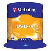 Диск DVD-R Verbatim 4.7Gb 16x Cake Box (100шт) (43549)