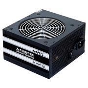 Блок питания CHIEFTEC GPS-500A8, Retail, 500W, v.2.3, КПД 80%, A.PFC, 1x PCI-E (6+2-Pin), 3x SATA, 2x MOLEX, Fan 12cm