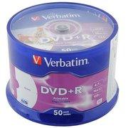 Диск DVD+R Verbatim 4.7Gb 16x Cake Box (50шт) 43550
