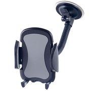 """Автомобильный держатель Perfeo-517 для смартфона до 6,5""""/ на стекло/ гибкая штанга/ черный+серый"""