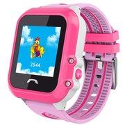 УЦ Детские часы телефон с gps трекером Smart baby watch DF27 розовый (влагозащищенные), ПУ