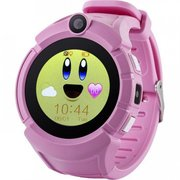 Детские часы телефон с gps трекером Smart baby watch Q360 розовый