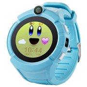 Детские часы телефон с gps трекером Smart baby watch Q360 голубой