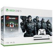 Игровая консоль Microsoft Xbox One S 234-01030 белый в комплекте игра Gears 5