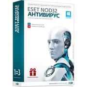 ПО Eset NOD32 Антивирус 3 ПК/1 год (либо продление на 20 мес), коробка (NOD32-ENA-1220(BOX)-1-1)