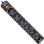 Фильтр-удлинитель сетевой DEFENDER DFS 155 чёрный 6 розеток 5.0м