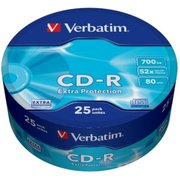 Диск CD-R Verbatim 700Mb 52x Cake Box (25шт) (43726)