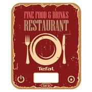 Весы кухонные Tefal BC5104V1 красный/рисунок