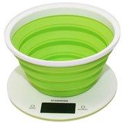 Весы кухонные Starwind SSK5575 белый/зеленый