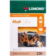 Фотобумага Lomond 0102016 A4/230г/м2/50л./белый матовое для струйной печати