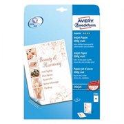 Бумага Avery Zweckform 2581 A4/200г/м2/25л./белый матовое/матовое для струйной печати