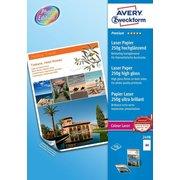 Фотобумага Avery Zweckform 2498 A4/250г/м2/100л./белый глянцевое/глянцевое для лазерной печати