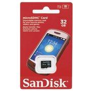 Карта памяти Sandisk microSDHC 32Gb Class4 SDSDQM-032G-B35 w/o adapter