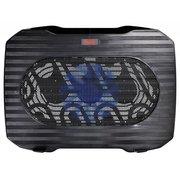 "Подставка для ноутбука Buro (BU-LCP156-B114) Черный до 15,6"", вентилятор: 140 мм, поток: 74.35 CFM, уровень шума: 20 dB(A), сквозной USB-разъём, LED"