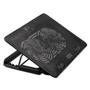 """Подставка для ноутбука Buro (BU-LCP156-B214H) Черный до 15,6"""", 2 вентилятора: 140 мм, поток: 76.61 CFM, уровень шума: 21 dB(A), 2 х USB-разъёма, LED"""