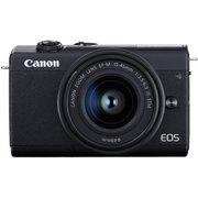 "Фотоаппарат Canon EOS M200 черный 24.1Mpix 3"" 4K WiFi 15-45 IS STM LP-E12 (с объективом)"