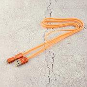 Дата-кабель REMAX Aurora 2 в 1 (micro USB + iPhone Lightning) 1m, оранжевый